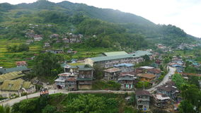 Mountain village. In the Philippines stock photography