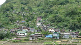 Mountain village. In the Philippines royalty free stock images
