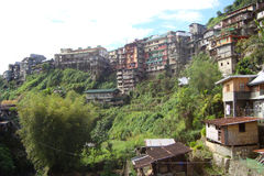 Mountain village. In the Philippines royalty free stock photo