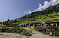 Mountain village in Pokhara, Nepal stock photography