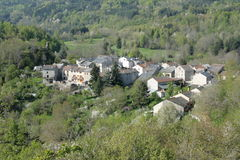 Mountain village in Pyrenees Stock Image