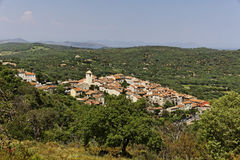 Mountain village of Ramatuelle nearby Saint Tropez, Cote d'Azur, Provence, Southern France Stock Photography