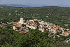 Mountain village of Ramatuelle nearby Saint Tropez, France Royalty Free Stock Photo