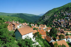 Mountain village. Restelica, south Kosovo Stock Photos