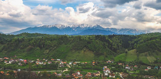Mountain village in Romania Royalty Free Stock Photo