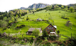 Mountain village in Romania Royalty Free Stock Photography
