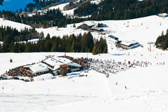 Mountain village in Saalbach Hinterglemm region Royalty Free Stock Images