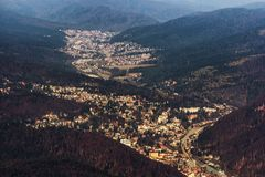 Mountain village seen from above Stock Image