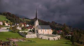 Mountain village seewis in switzerland Stock Photo