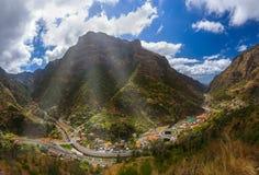 Mountain village Serra de Aqua - Madeira Portugal Royalty Free Stock Photos
