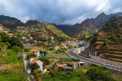 Mountain village Serra de Aqua - Madeira Portugal Stock Photo