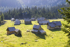 Mountain village, Slovenina Royalty Free Stock Images