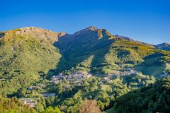 Mountain village. Small mountain village in spring Stock Images