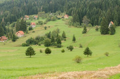 Mountain village. A small mountain village in Serbia Royalty Free Stock Photography
