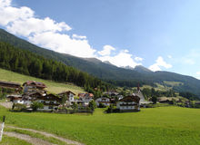Mountain village in South Tyrol royalty free stock photography