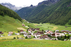 Mountain village in South Tyrol, Italy Stock Photo