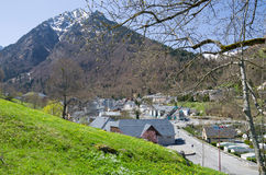 Mountain village in the spring Pyrenees Royalty Free Stock Photos
