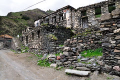 The mountain village  Stepantsminda.Georgia Stock Images