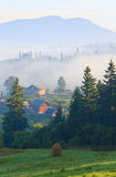 Mountain village (summer countryside landscape) Stock Image