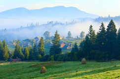 Mountain village (summer countryside landscape) Stock Photos