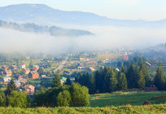 Mountain village (summer countryside landscape) Royalty Free Stock Images