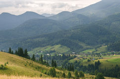 Mountain Village on a Sunny Summer day. Mountain Village on a Sunny Summer day stock image