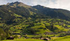 Mountain village, Switzerland Royalty Free Stock Image