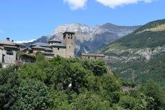 Mountain village of Torla stock photo