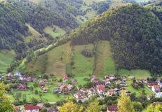 Mountain village in Transylvania Stock Photo