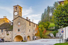 Mountain village in Tuscany Stock Photo