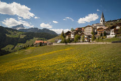 Mountain Village, Tyrolean Region Of Northern Italy Royalty Free Stock Image