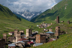 Mountain village Stock Photography