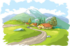 Mountain village Stock Image