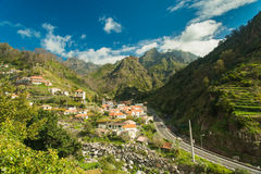 Mountain village view II. Serra De Agua, Madeira, Portugal. View from another road royalty free stock image