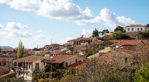 Mountain village of Vouni in Cyprus Royalty Free Stock Images