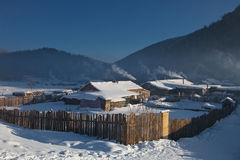 MOUNTAIN VILLAGE WINTER Stock Photos