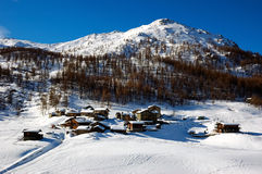 Mountain village winter Stock Image