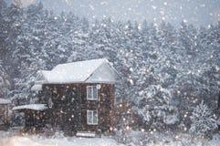 Mountain village in winter Stock Photos