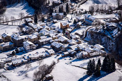 Mountain village in winter Royalty Free Stock Photography