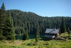 Mountain village Royalty Free Stock Image