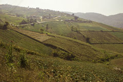 Mountain villages Of Phu Tabberk Phetchabun Thailand. Royalty Free Stock Photo