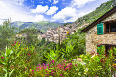 mountain villages - Saorge Stock Image