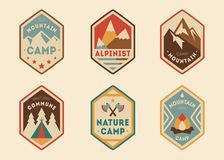 Mountain vintage labels, badges Stock Images