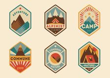 Mountain vintage labels, badges Royalty Free Stock Images