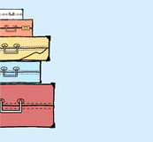 Mountain vintage suitcases. Royalty Free Stock Images