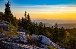 Mountain Vista along the Allegheny Front. Early Morning Mountain Vistas along the Allegheny Front in Dolly Sods Wilderness Area West Virginia Stock Photography