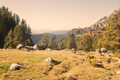 Mountain vista stock photography