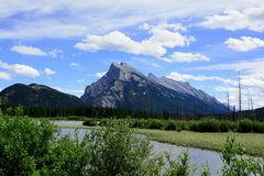 Mountain Vista,Vermillion Lakes,Banff,Alberta. Royalty Free Stock Images
