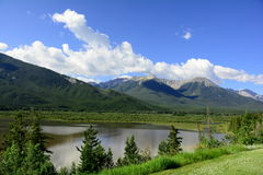 Mountain Vista,Vermillion Lakes,Banff,Alberta. Royalty Free Stock Photography