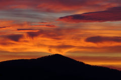 Mountain Volcano Like Sunrise Stock Photo